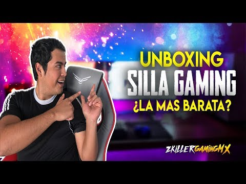 LA SILLA GAMER (GAMING) MAS ECONOMICA MEXICO | UNBOXING