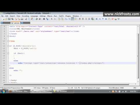 PHP Tutorial // URL Shortener with HTACCESS (Part 1/3)