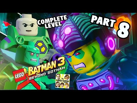 Lets Play Lego Batman 3 - THE BIG GRAPPLE (Pt 8 BEYOND GOTHAM) Complete Level