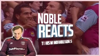 NOBLE REACTS TO HIS MEMORABLE WEST HAM GOALS