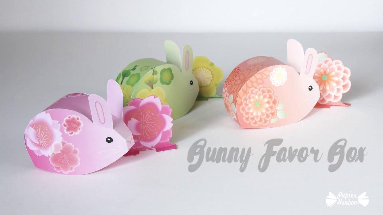 Bunny favor box printable paper craft tutorial youtube bunny favor box printable paper craft tutorial negle Images
