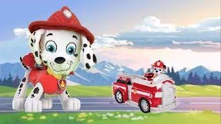 Paw patrol juguetes español y bebes patrulla canina:salvan a Marshall (pups save tiny Marshall)
