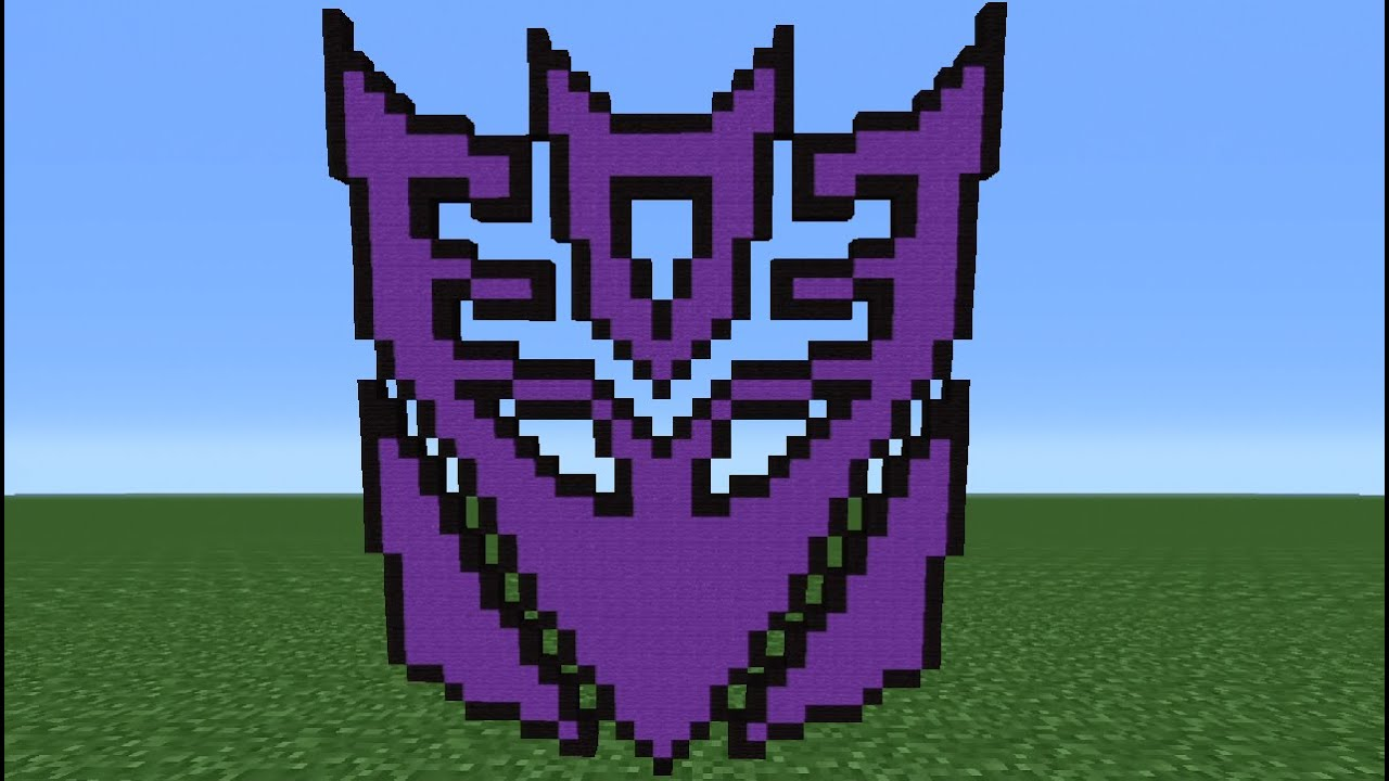 Minecraft Tutorial How To Make The Decepticon Logo Transformers