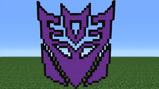 Minecraft Tutorial: How To Make The Decepticon Logo (Transformers)