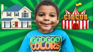 GOO GOO GAGA TURN HOUSE INTO A CIRCUS! Learn about Circus Performers and Animals