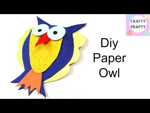 DIY Paper Owl/DIY 3D Paper Owl