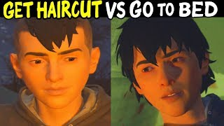 STAY And GET A HAIRCUT Vs GO TO BED WITH DANIEL - All Outcomes Choices - Life is Strange 2 Episode 3