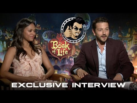 Zoe Saldana and Diego Luna Interview - The Book of Life (HD) 2014