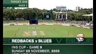 SHAUN TAIT vs STEVE WAUGH & NSW, FASTEST OVER, HOSTILE SPELL 2003 thumbnail