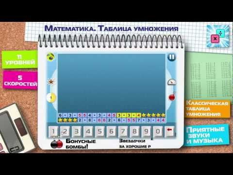 Математика - Таблица умножения