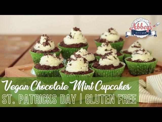 VEGAN Gluten Free Chocolate Mint CUPCAKES | St. PATRICK'S DAY