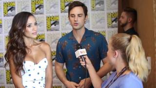 Once Upon a Time's Andrew West and Dania Ramirez Interview at SDCC 2017
