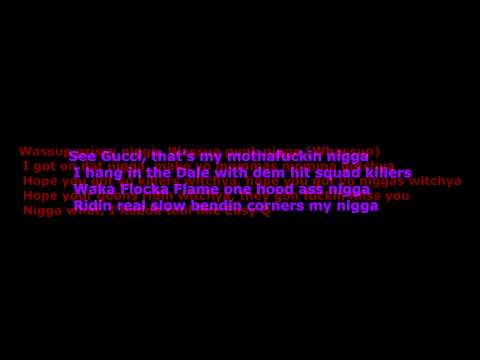 Waka Flocka - Hard In Da Paint (Dirty) (HD Sound) (Lyrics)