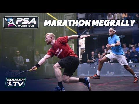 """""""This Is BRUTAL"""" - Super-Long Squash Rally - ElShorbagy V Makin"""