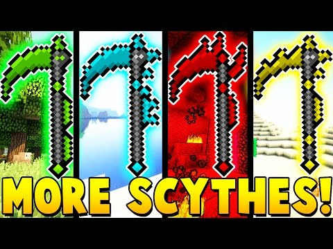 MEGA SCYTHES MOD CHALLENGE | Minecraft - Mod Battle