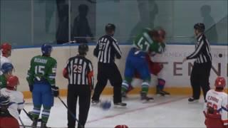 Hockeyfights. Торос - КРС-ОЭРДЖИ. Драка Бобылёв - Полинин