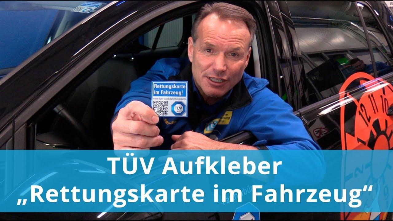 Tüv Aufkleber Rettungskarte Im Fahrzeug