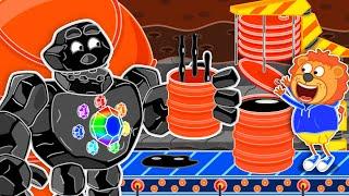 Львенок Котёнок – К центру земли за сланцевой нефтью - Мультфильмы для детей