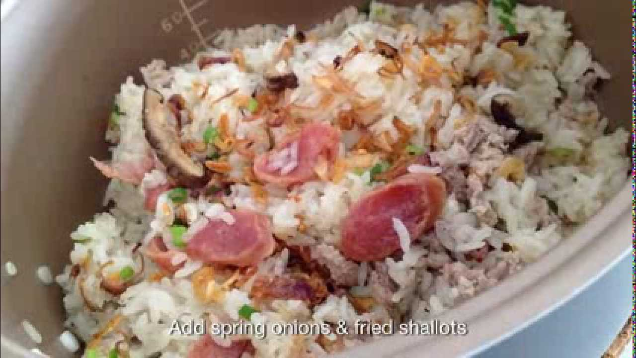 Glutinous Rice With Pork & Mushrooms (rice Cooker Recipe)