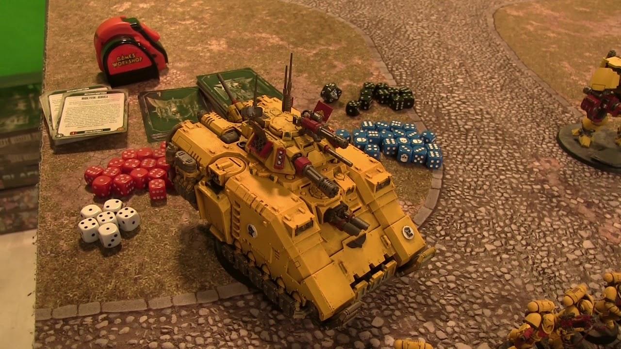 Warhammer 40K BatRep - Imperial Fist vs Orks