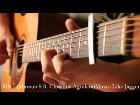 Popular Song`s 1960 2015 Guitar  Acoustic Fingerstyle