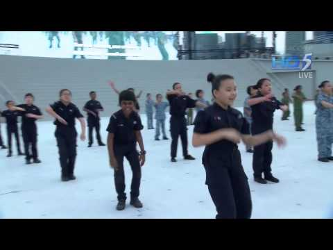 1080p HD National Day Parade 2013  Ah Boys To Men singing ABTM 1 Theme Song  Recruits Anthem