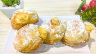 Custard Cream Donut Recipe (NO BAKE)