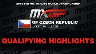 MXGP of Czech Republic Qualifying Race Highlights 2015