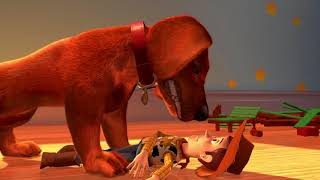 Toy Story 2 Buster Finds Woody