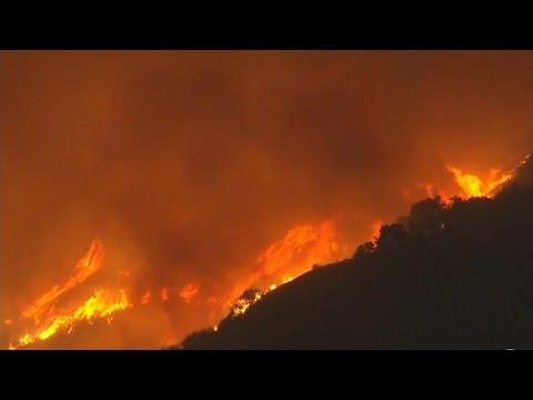 Massive California wildfire spreads