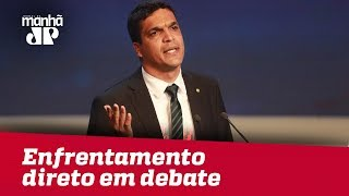 Bolsonaro e Cabo Daciolo protagonizam enfrentamento direto em debate presidencial