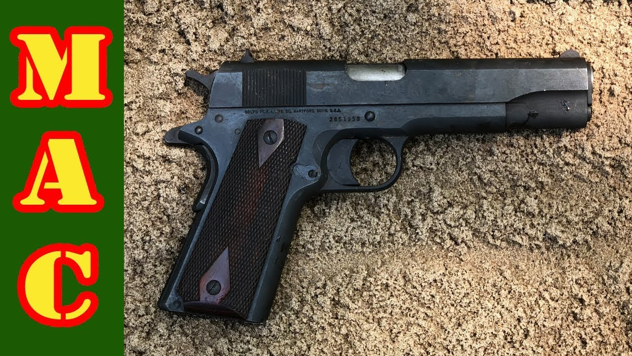 MAC Colt 1911 torture test - much wailing and gnashing of