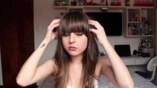 Cuidados com o cabelo + como transformar a franja reta em franja lateral