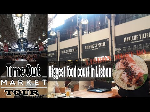 TimeOut Market Lisbon Tour Lisbon's biggest food court - Da P.A Vlog