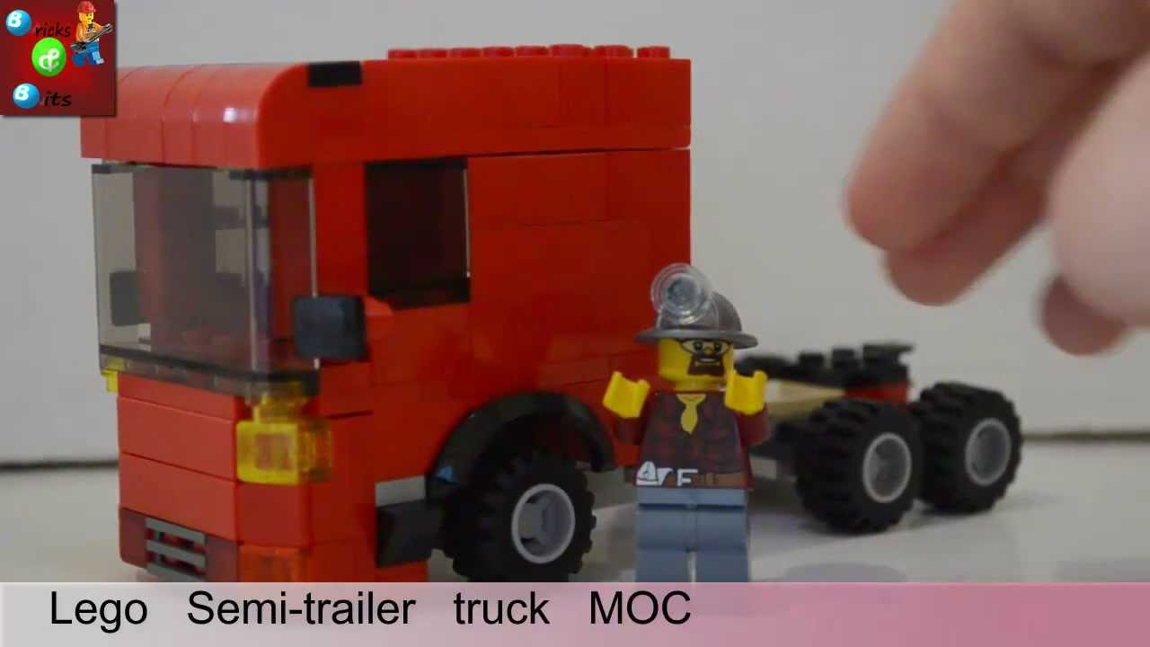 custom lego semi trailer truck moc youtube. Black Bedroom Furniture Sets. Home Design Ideas