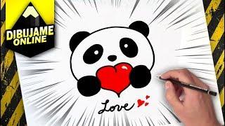 Como Dibujar Un Panda Kawaii