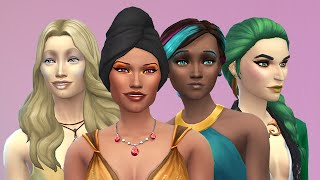 The Four Element (immortal) Sisters — The Sims 4