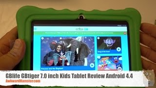 GBlife GBtiger 7.0 inch Kids Tablet Review Android 4.4