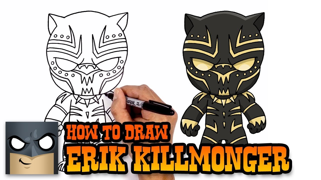 How to Draw Erik Killmonger Black