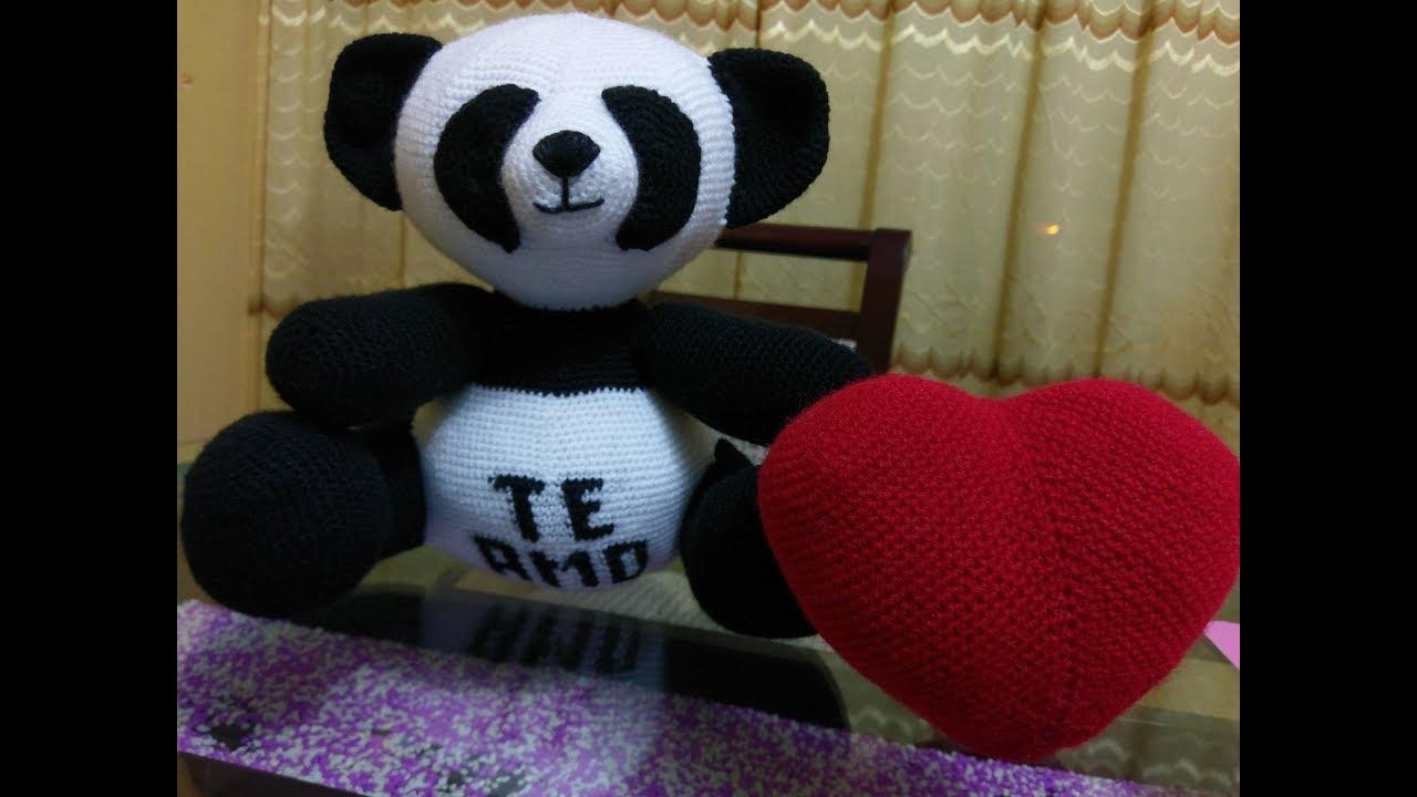 PATRON GRATIS OSO PANDA AMIGURUMI | Oso panda, Osos, Panda | 720x1280