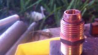 Piston Valve Air Gun - How to make sealing face - Soldering Tutorial