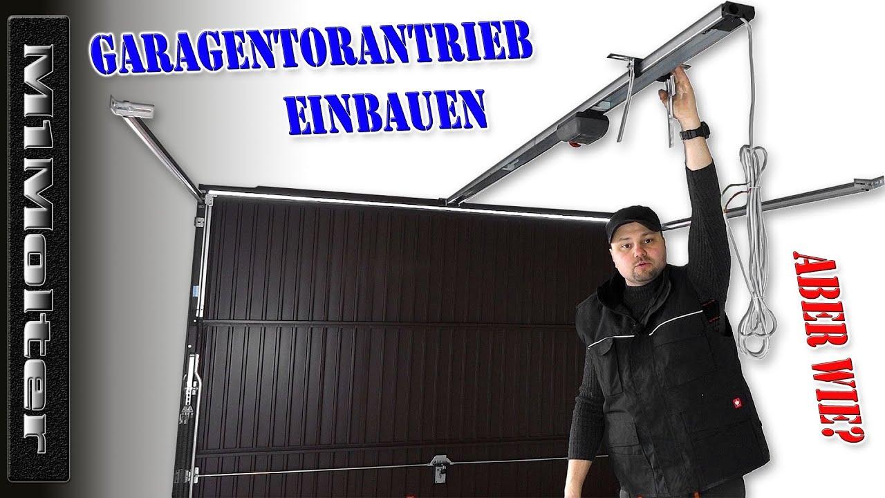 montage torantrieb / garagentoröffner / sommer garagentorantrieb duo