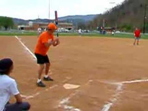 Church League Softball Action