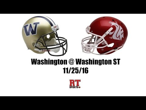 Washington Huskies at Washington State Cougars in 30 Minutes - 11/25/16