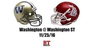 Washington Huskies at Washington State Cougars in 30 Minutes - 11/25/16