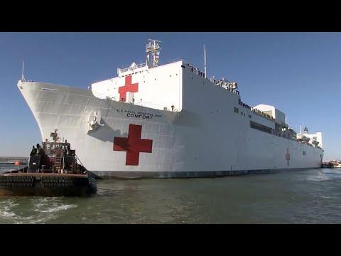 Naval hospital ship deployed to Puerto Rico
