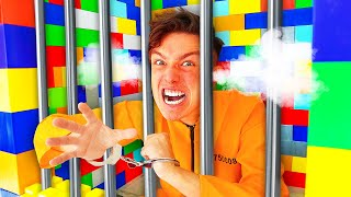 Trapped in LEGO PRISON For 24 Hours! - Challenge