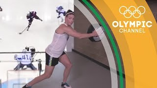 Shot Power Exercises for Ice Hockey ft. Hillary Knight | Workout Wednesday