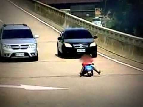 8 Year Old Boy Driving Bike on road Parenting FAIL - YouTube