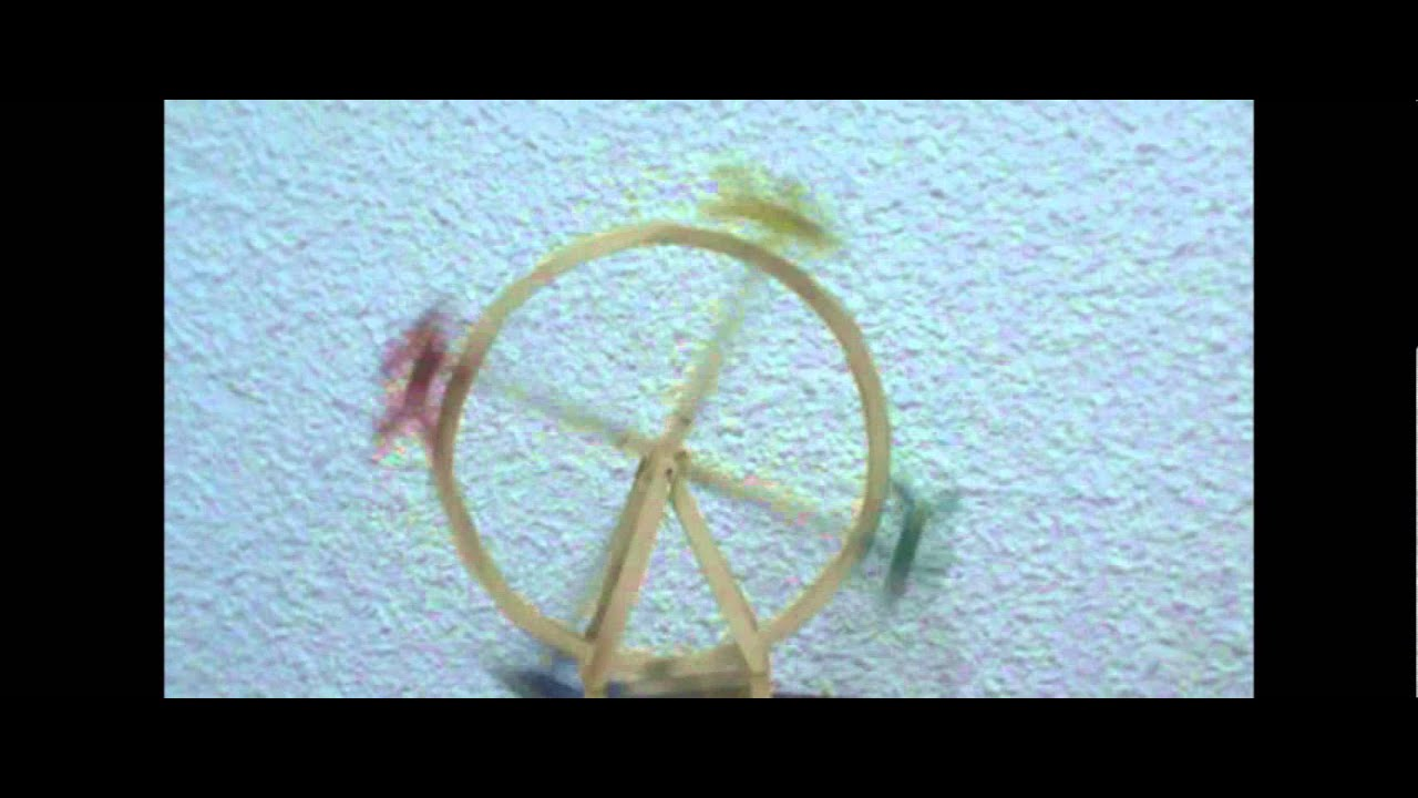 Ferris Wheel Made Out Of Popsicle Sticks Youtube